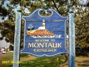 Montauk welcome sign
